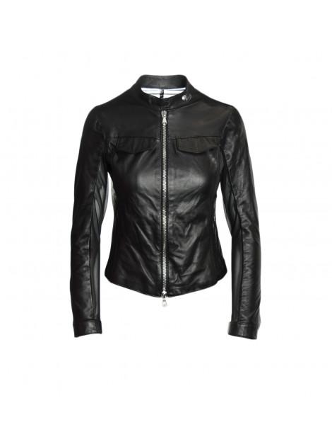 Μαύρο Biker's Jacket Δερμάτινο
