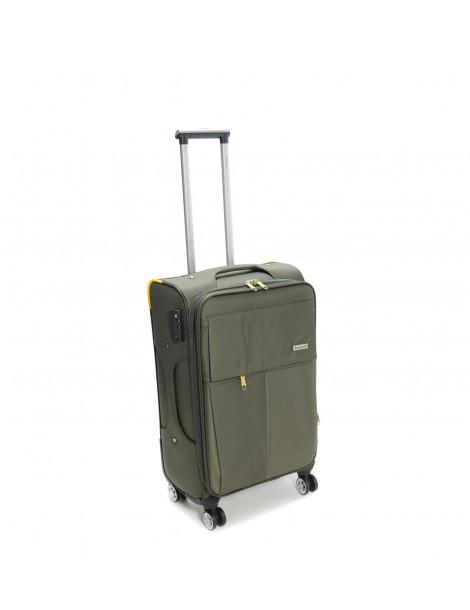 Βαλίτσα ταξιδιού σε χρώμα χακί μικρή 49L