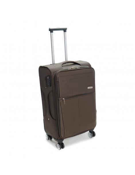 Βαλίτσα ταξιδιού καφέ μεσαία 73L
