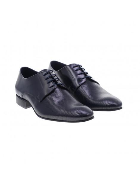 Σκούρο Μπλε Δερμάτινα Παπούτσια