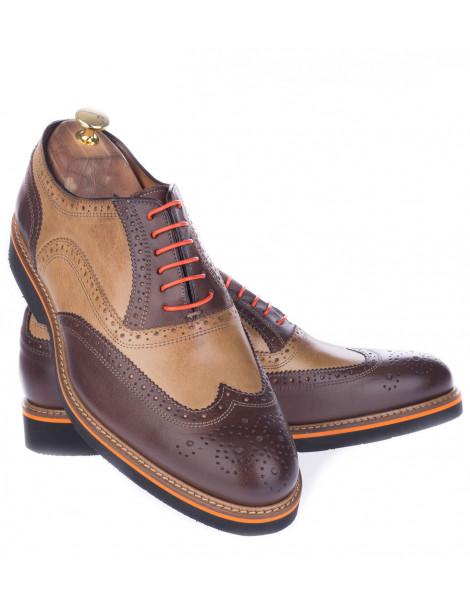 Δερμάτινα Παπούτσια Δίχρωμα