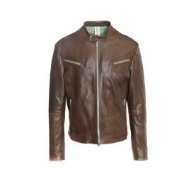 Καφέ Δερμάτινο Biker's Jacket