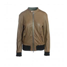 Kαφέ Δερμάτινο Biker's Jacket