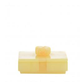 Μπεζ Κουτάκι με κίτρινο φιόγκο