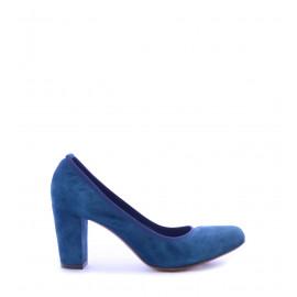 No. 37 Μπλε Suede Δερμάτινα Γόβες