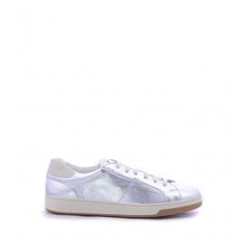 Ανδρικά Casual Δερμάτινα Ασημί Παπούτσια