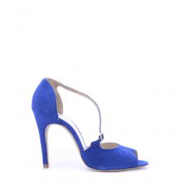 Μπλε Suede Δερμάτινα Γυναικεία Peep Toe
