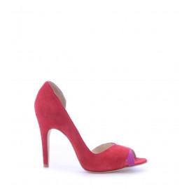 No. 38 Κόκκινα Suede Δερμάτινα Peep Toe