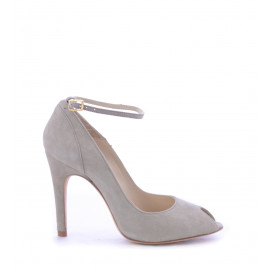 No. 36 Taupe Suede Δερμάτινα Peep Toe