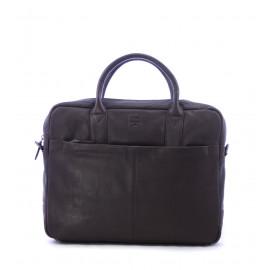 Σκούρο Καφέ Δερμάτινη Επαγγελματική Τσάντα