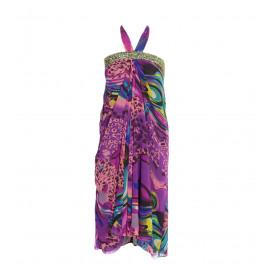 Strapless Εμπριμέ Φόρεμα