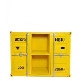 Σιδερένια Συρταρταριέρα Κίτρινη