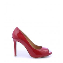 No. 38 Κόκκινα Λουστρίνι Peep Toe