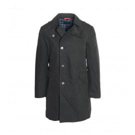 Συνθετικό Ανδρικό Μαύρο Παλτό