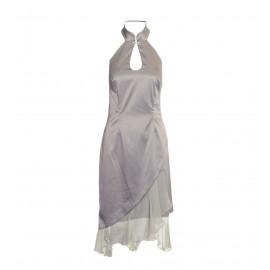 Ασημί Μακρύ Φόρεμα