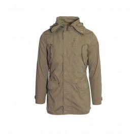 Ανδρικό παλτό σε καφέ χρώμα
