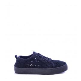 Μαύρα Υφασμάτινα Γυναικεία Παπούτσια