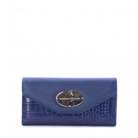Γυναικείο Πορτοφόλι Μπλε Κροκό