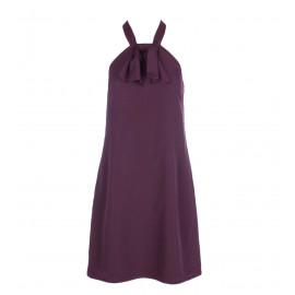 Μπορντό Φόρεμα Με Φιόγκο