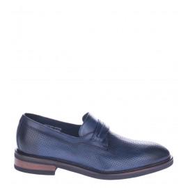Δερμάτινα Ανδρικά Loafers Σε Μπλε
