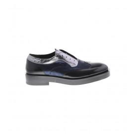 Μαύρα Δετά Δερμάτινα Παπούτσια