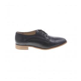 Μαύρα Δερμάτινα Δετά Παπούτσια