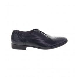 No. 36 Μαύρα Δερμάτινα Δετά Παπούτσια