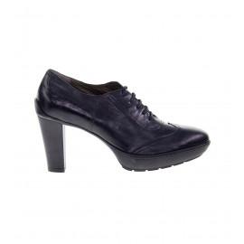 No. 40 Μαύρα Δερμάτινα Δετά Παπούτσια