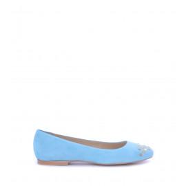 Νο. 37 Γαλάζιες Suede Μπαλαρίνες