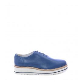 Μπλε Δερμάτινα Oxfords