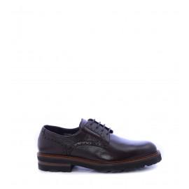 Ανδρικά παπούτσια με κορδόνι Derby καφέ