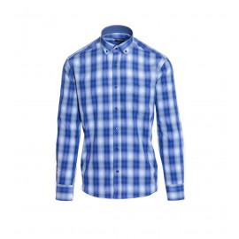 Button-Down Καρό Πουκάμισο Σε Μπλε Χρώμα