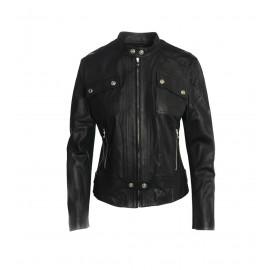 Μαύρο Δερμάτινο Biker's Jacket
