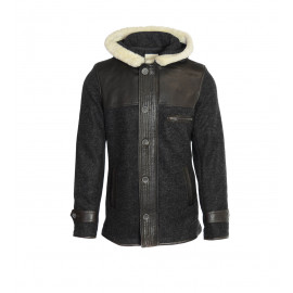 Μάλλινο Παλτό Σε Μαύρο Χρώμα