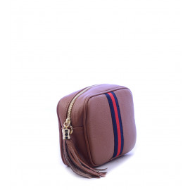 Γυναικείο τσαντάκι δερμάτινο σε ταμπά χρώμα