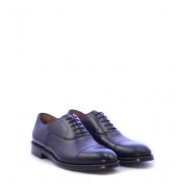 Ανδρικά παπούτσια Oxfords καφέ με κορδόνι