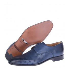 Δερμάτινα Παπούτσια Μπλε