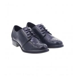 Μαύρα Δερμάτινα Παπούτσια Δετά