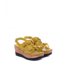 Κίτρινες Δερμάτινες Πλατφόρμες