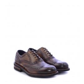 Ανδρικά παπούτσια με κορδόνι Oxfords σε καφέ χρώμα