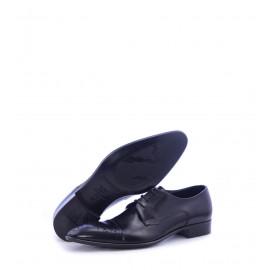 Παπούτσια Ανδρικά με Κορδόνια Μαύρα