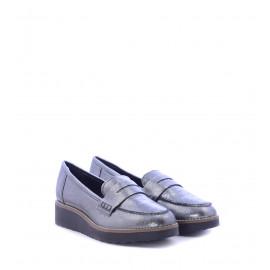 Ασημί Δερμάτινα Loafers