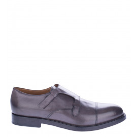 Γκρι Δερμάτινα Παπούτσια