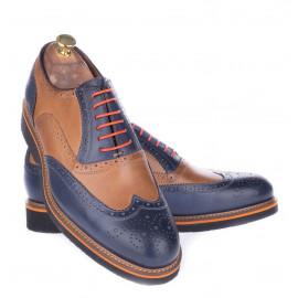 Παπούτσια Δετά Δίχρωμα Μπλε